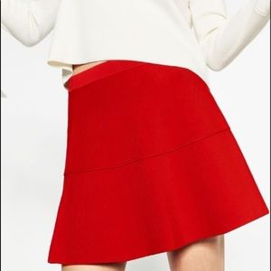 ZARA RED SKIRT